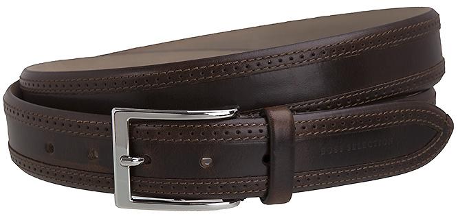 hugo boss selection herren g rtel leder braun leather brown handmade new neu ebay. Black Bedroom Furniture Sets. Home Design Ideas