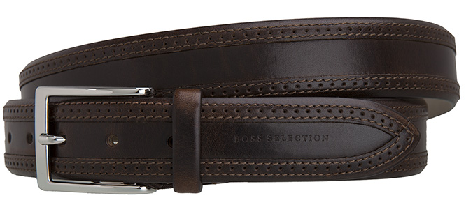 hugo boss selection herren g rtel leder braun leather. Black Bedroom Furniture Sets. Home Design Ideas