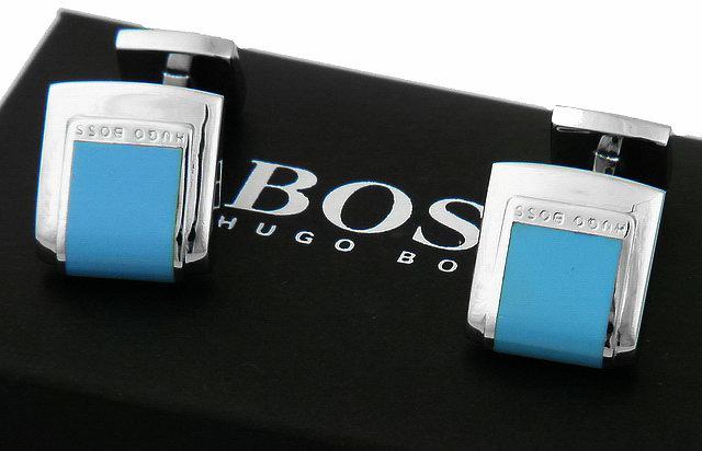 hugo boss black manschettenkn pfe cufflink blau hellblau. Black Bedroom Furniture Sets. Home Design Ideas