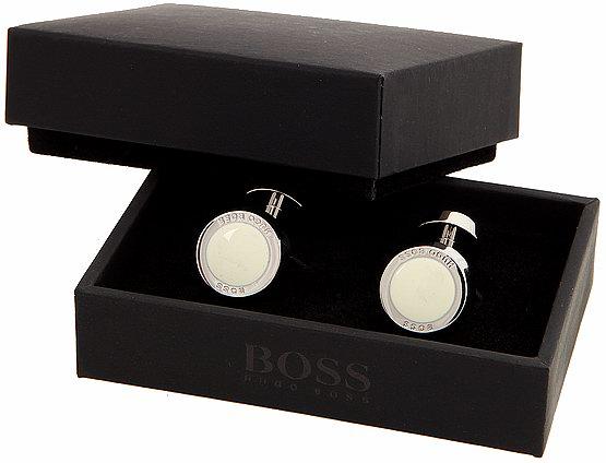 hugo boss hemd manschettenkn pfe cufflink gemelos weiss. Black Bedroom Furniture Sets. Home Design Ideas